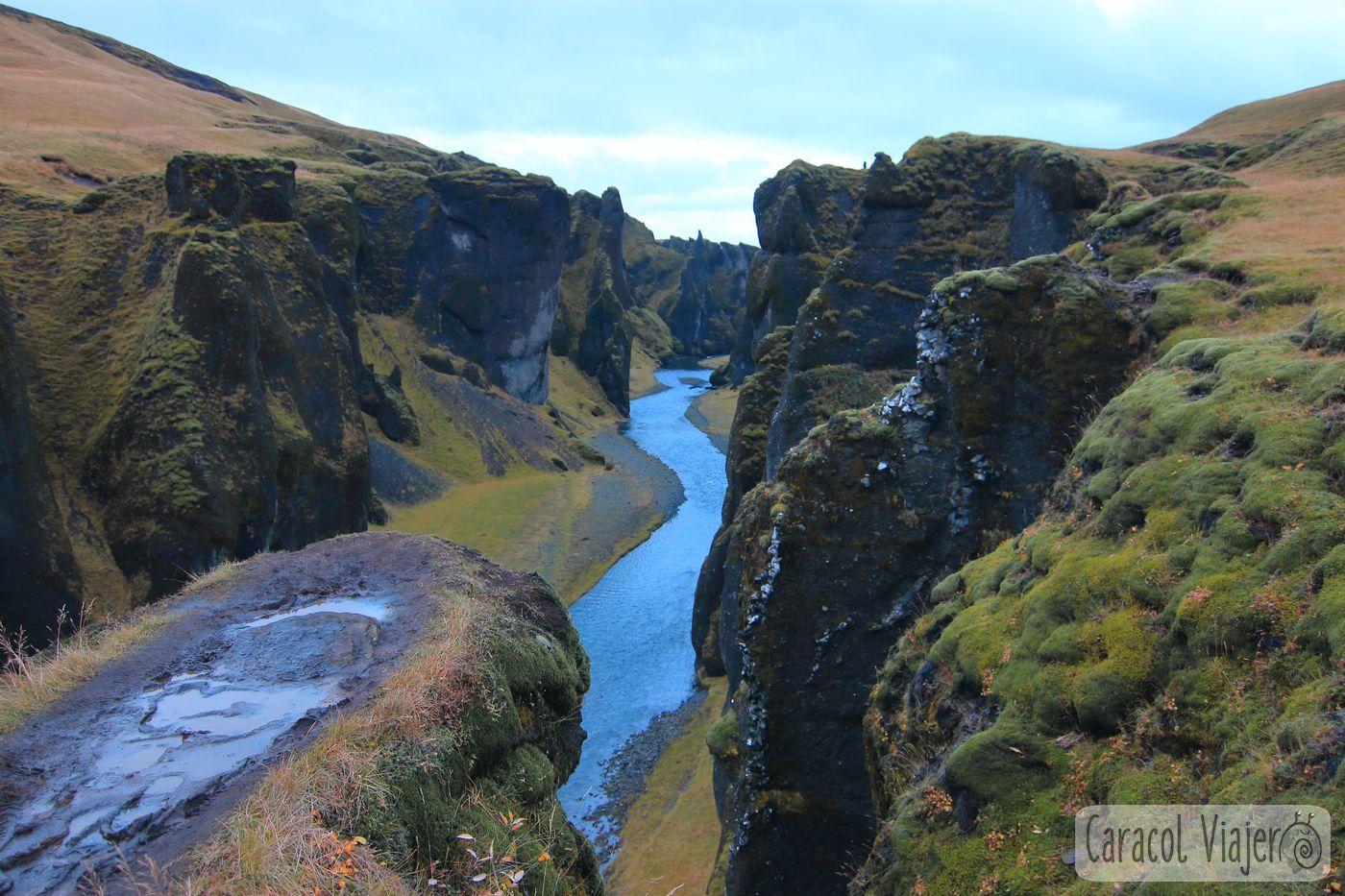 Islandia sur cañón
