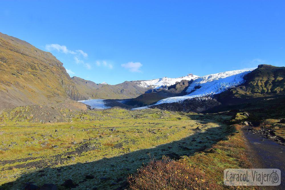 Skaftafell glaciares y cuevas en Islandia