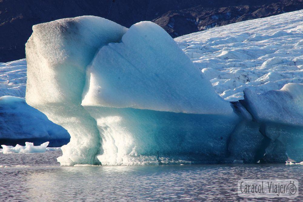 Fjallsárlón glaciar, pedazo de hielo.