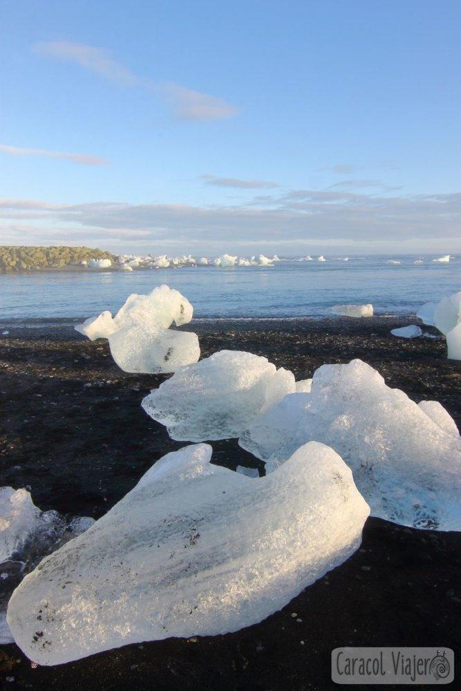 Jökulsárlón playa hielo glaciar