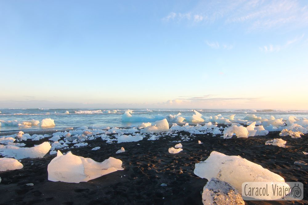 Islandia playa Jökulsárlón