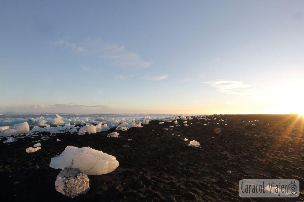 Jökulsárlón - playa de hielo