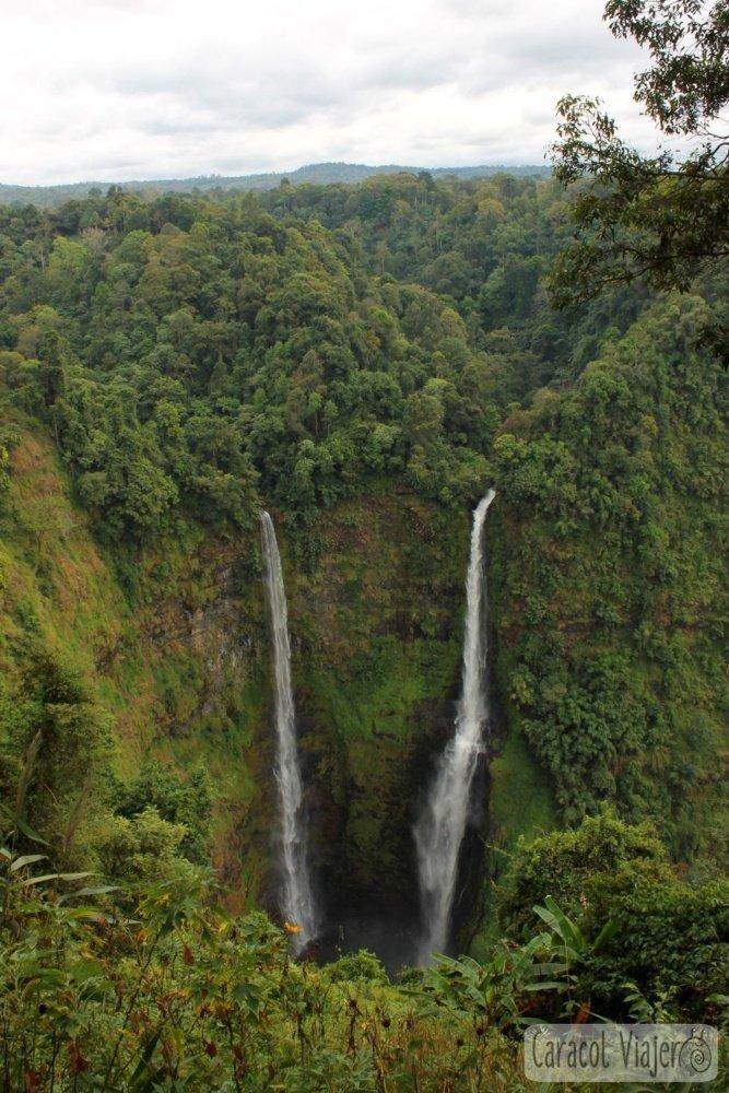 Laos Tad Fane cascadas - Bolaven