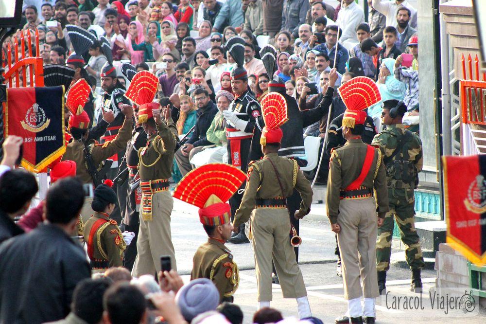India y Pakistán ceremonia