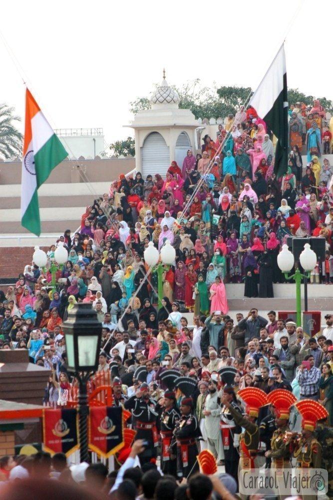 Banderas de India y Pakistán
