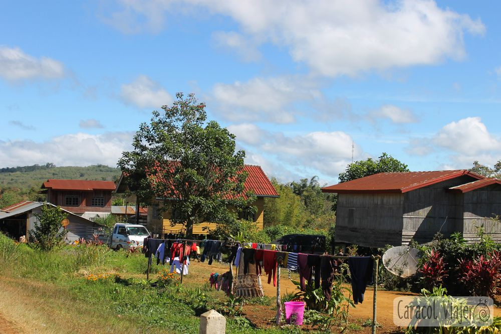 Bolaven Plateau casas