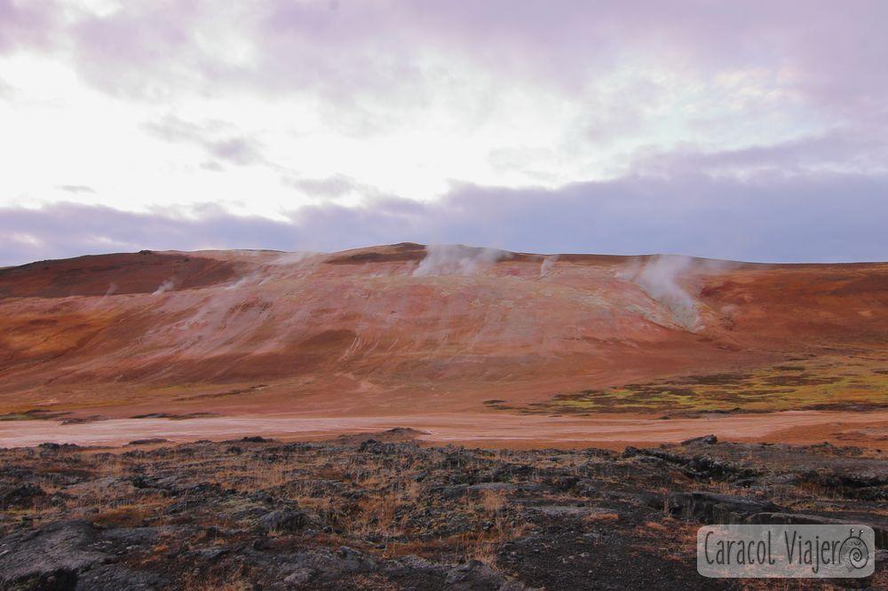 Krafla y Leirhnukur , zona volcánica de Islandia