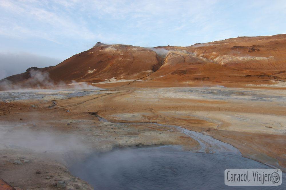 Hverir y su paisaje lunar islandés