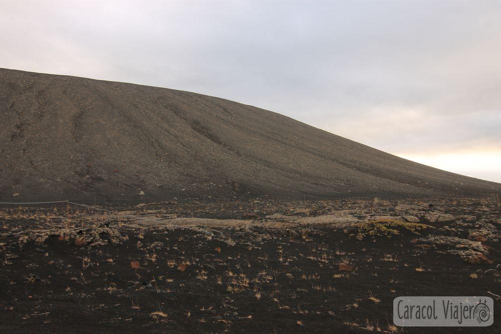 Hverfjall cráter en Islandia