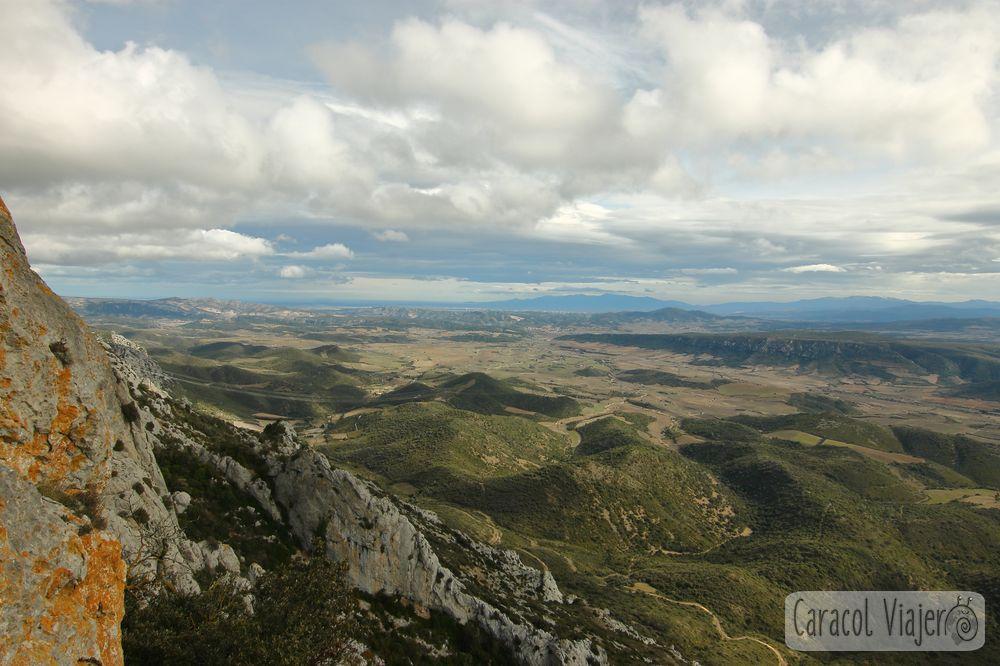 Vistas desde el Castillo Quéribus