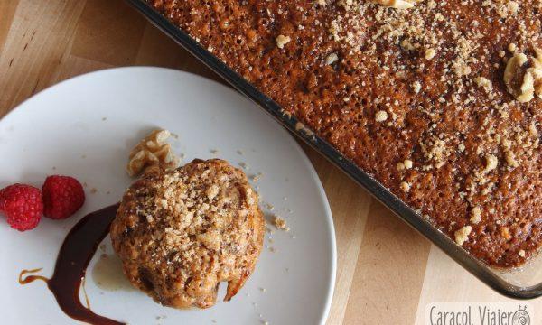 Pastel de nueces griego, karidópita, en 1 hora