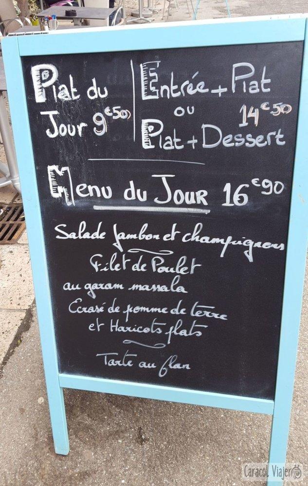 Precios de plato del día en Francia