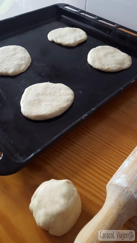 Pan de pita receta realización