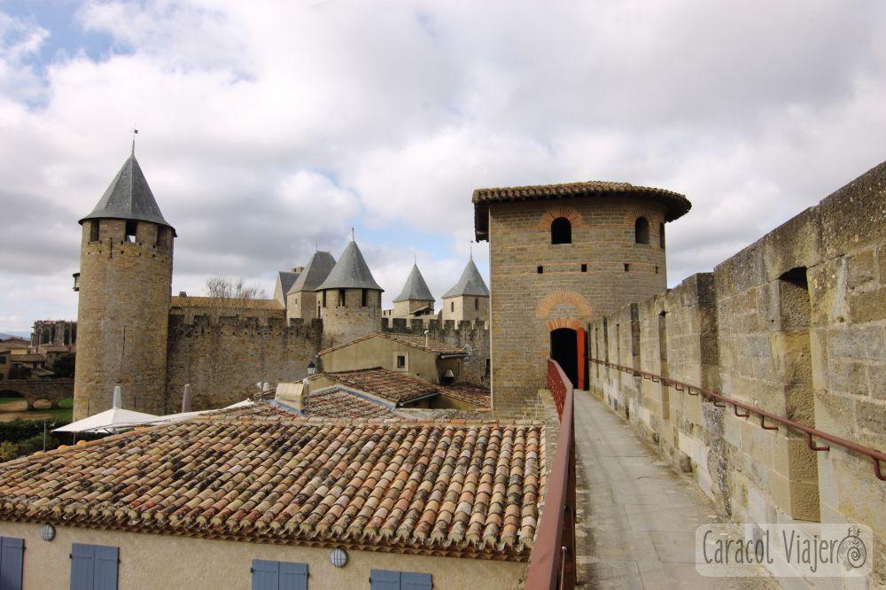 Visitar la muralla del castillo de Carcasona