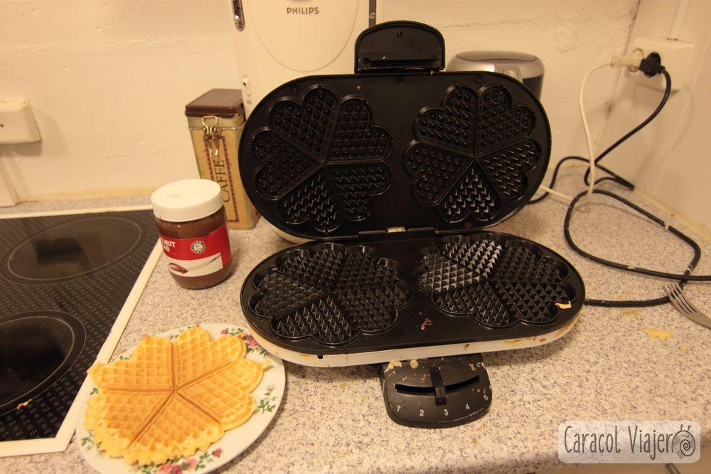 Waffles máquina en Islandia