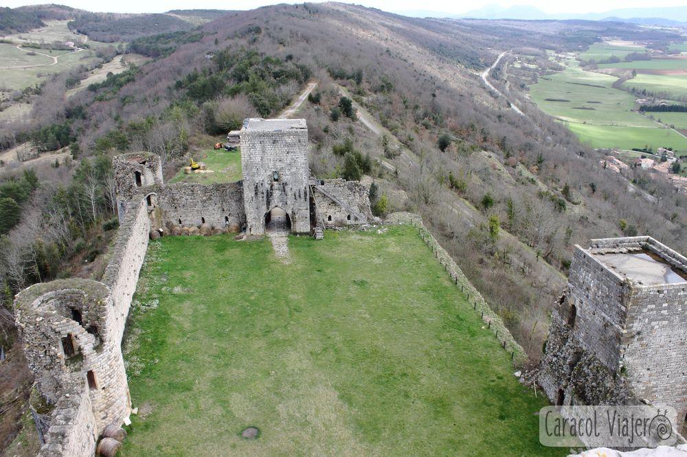 Torre del homenaje en Puivert Francia