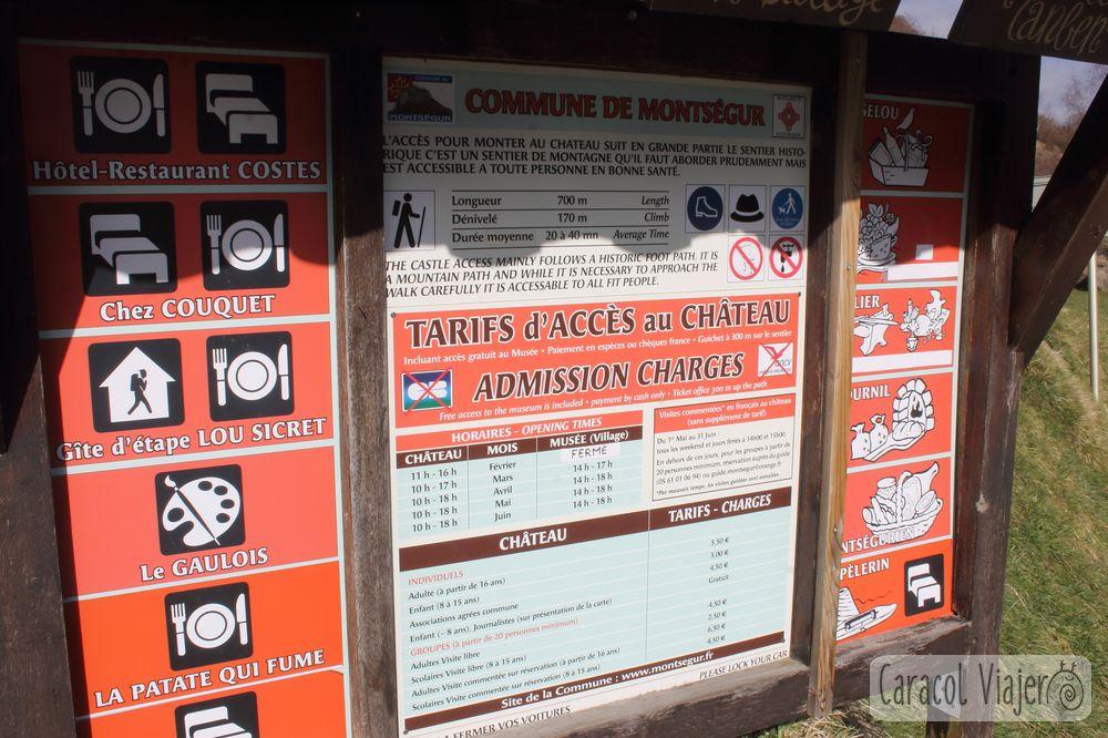 Precios y horarios para visitar el castillo de Montségur