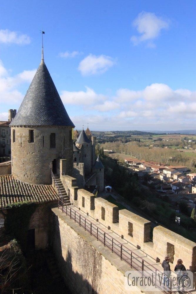 Interior castillo de Carcasona