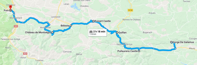 Visitar el castillo de Montségur