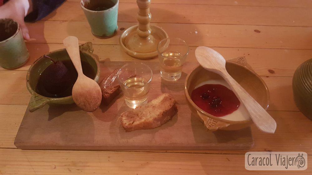 La Rôtisserie, menú medieval