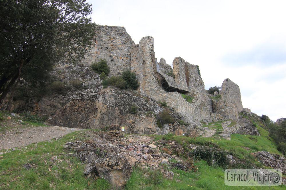 Castillo de Termes en el sur de Francia