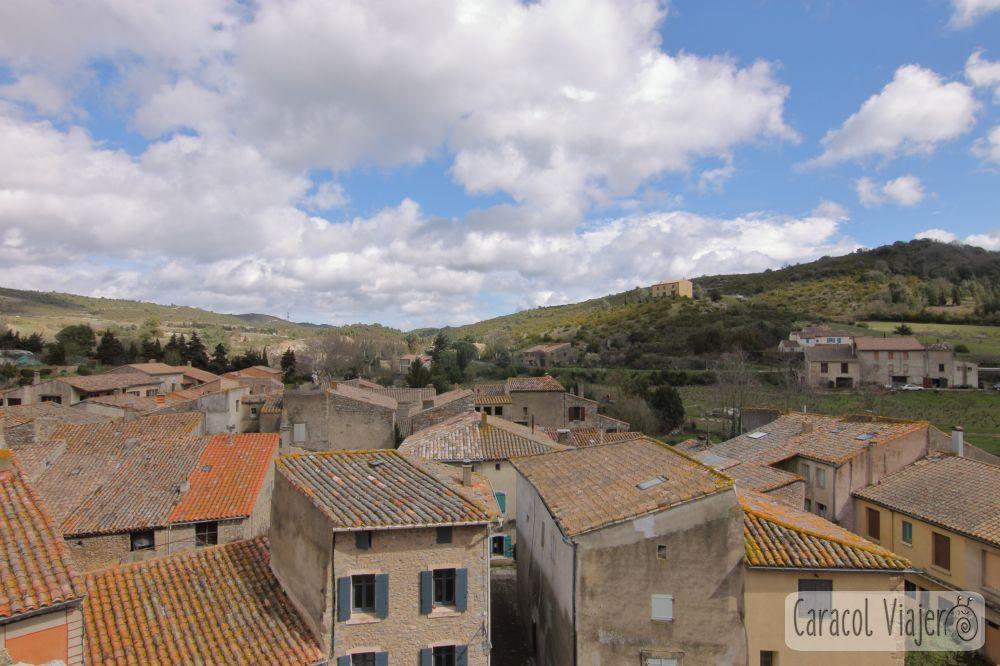 Ruta de los castillos cátaros: Vistas desde el castillo de Villerouge-Termenès