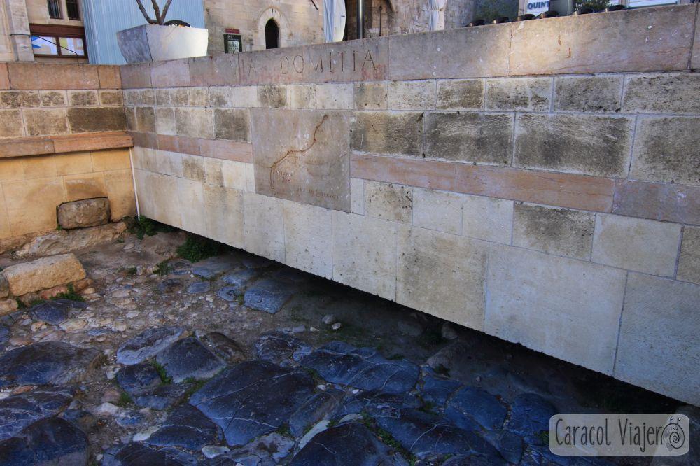 Calzada romana en Narbona