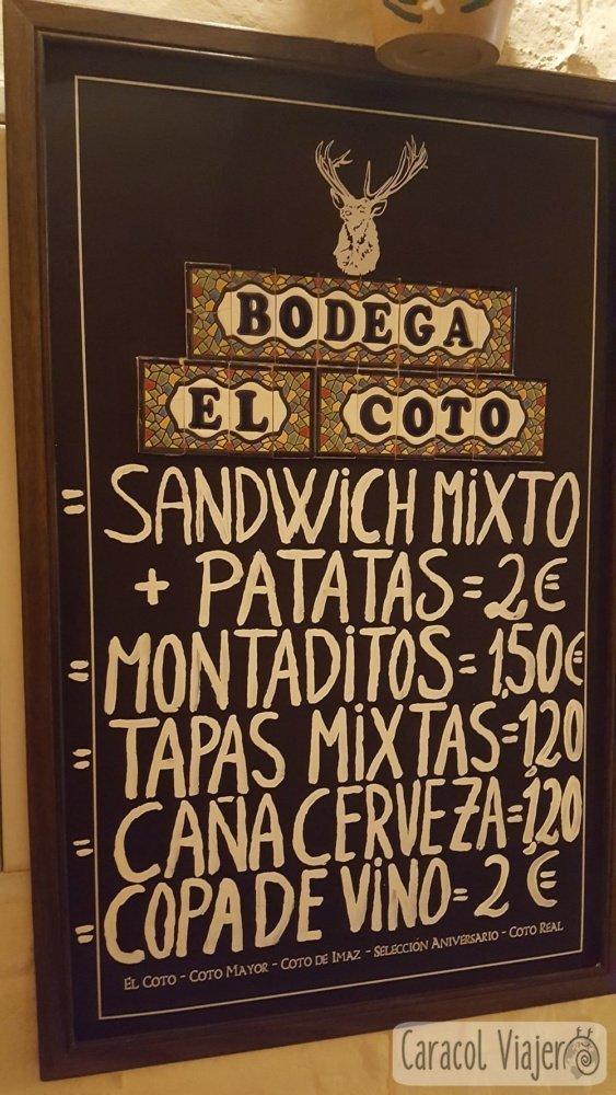 Bodega El Coto en Ronda