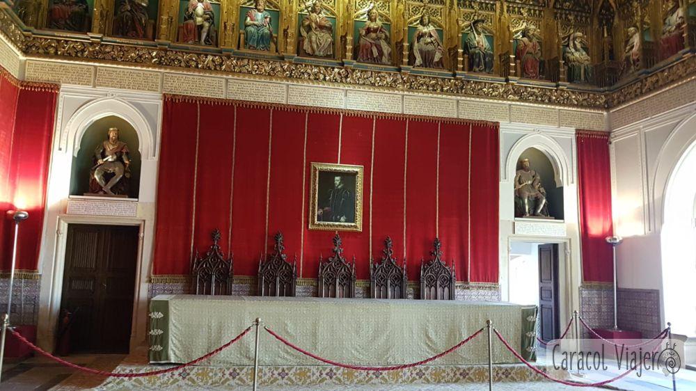 Salón reyes católicos alcázar de Segovia