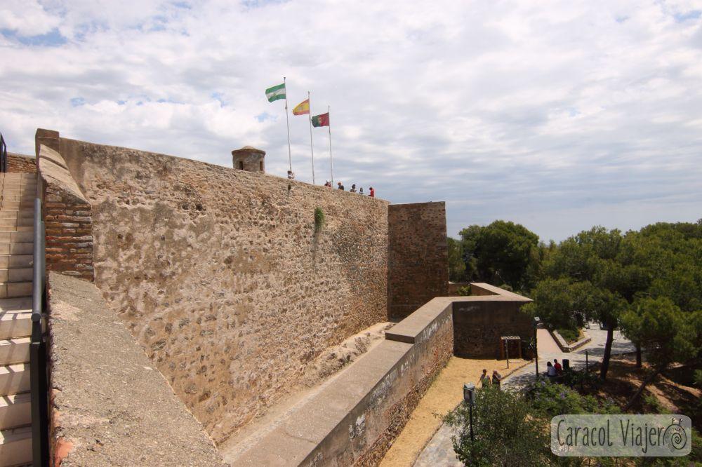 Exterior del castillo de Gibralfaro, Málaga