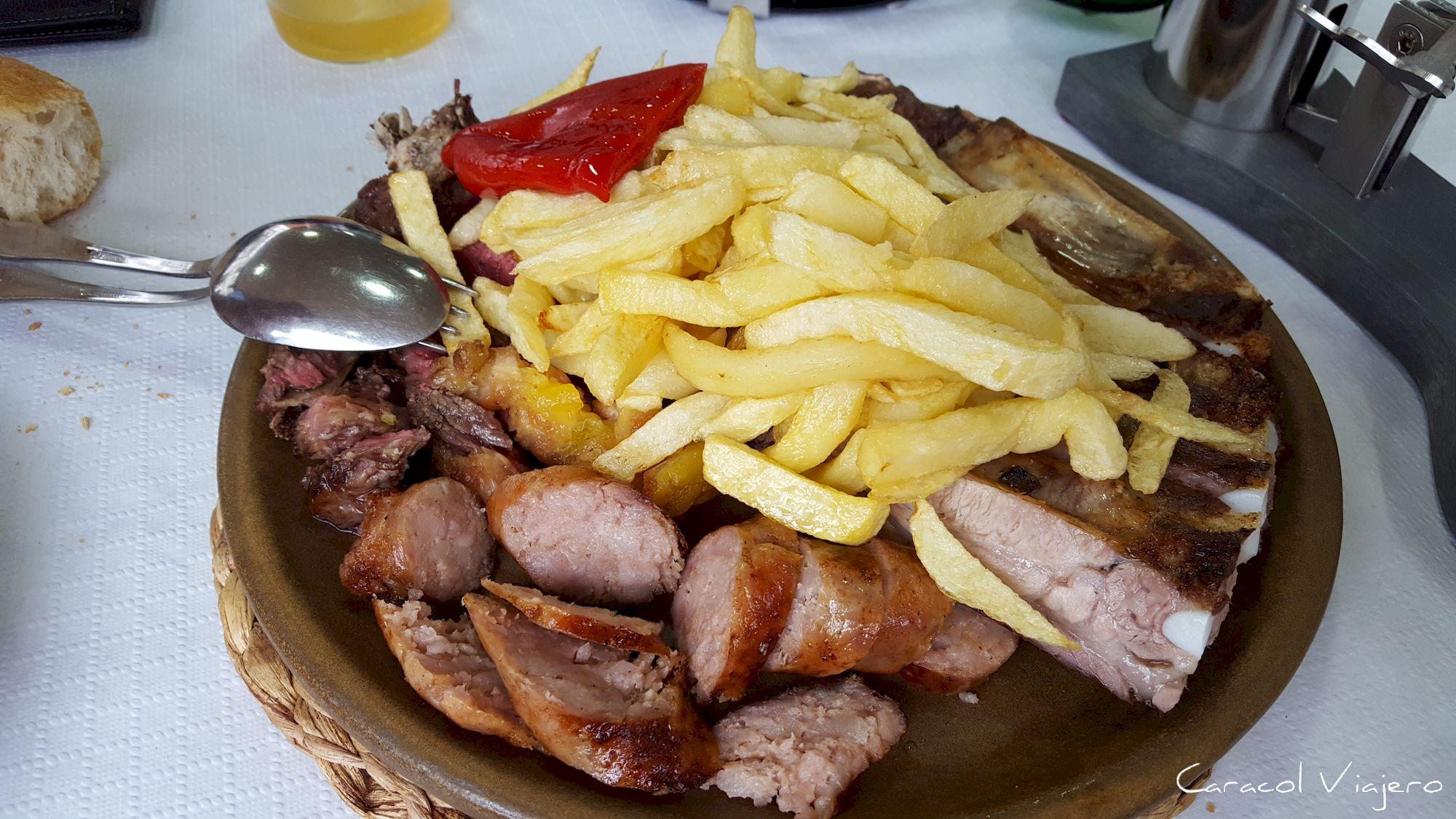 Carne en Asturias - Tabla parrilla