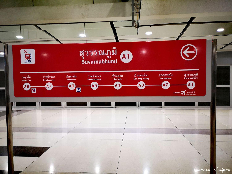 cómo ir del aeropuerto de bangkok al centro