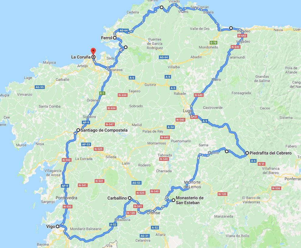 Coche - 10 días por Galicia