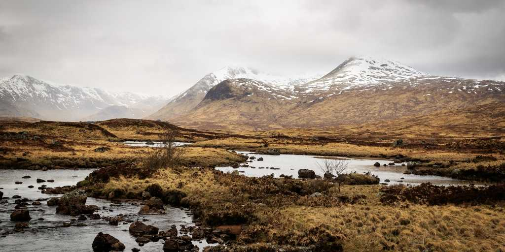 Rannoch Moor en Highlands Escocia