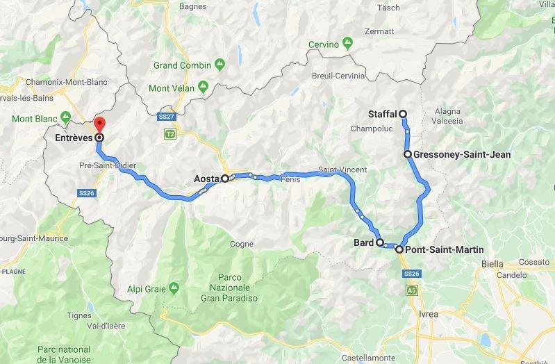 Ruta 4 días valle de Aosta - Italia