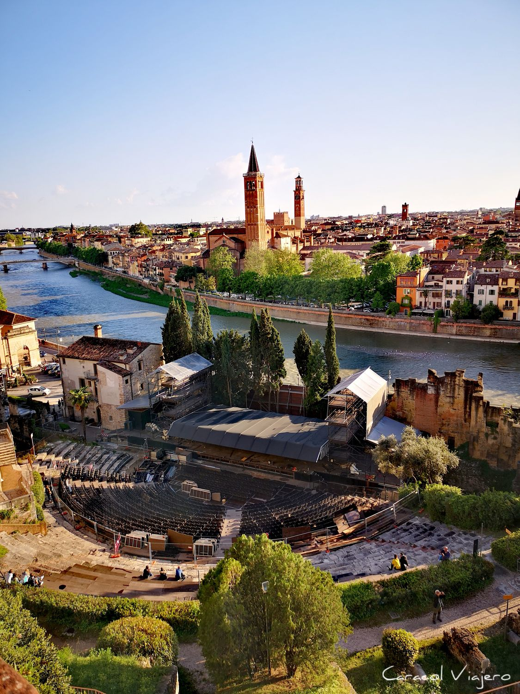 Museo de Verona vistas - viajar a Italia