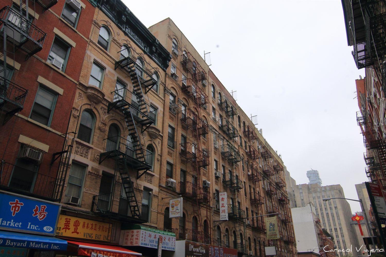 Edificios de Chinatown, itinerario de 10 días en Nueva York