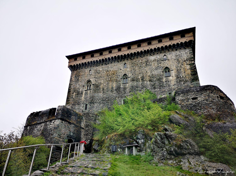 Exterior castillo Verres - castillos valle de Aosta