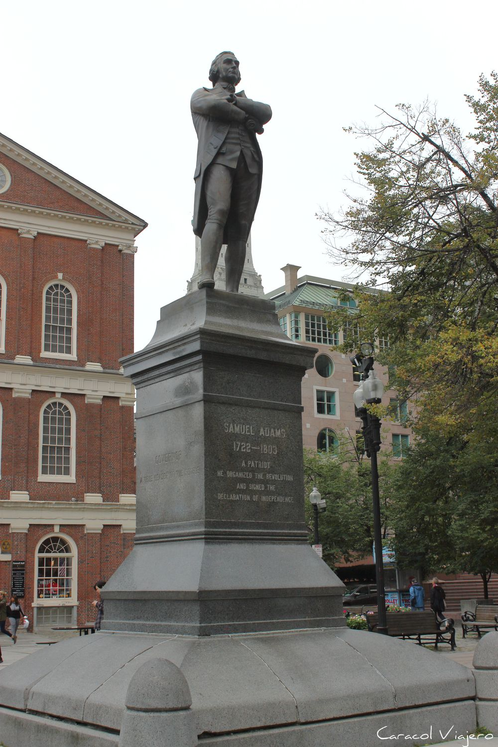 Estatua de Samuel Adams Boston