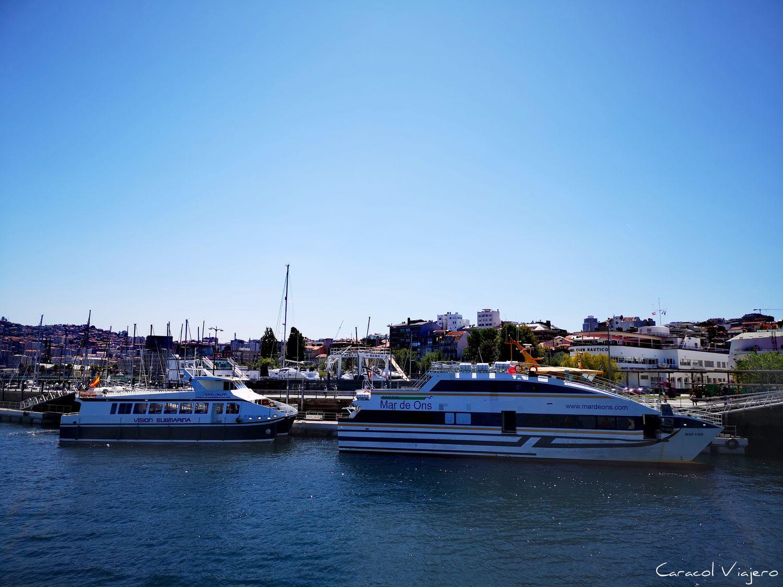 Islas cíes y ons barcos
