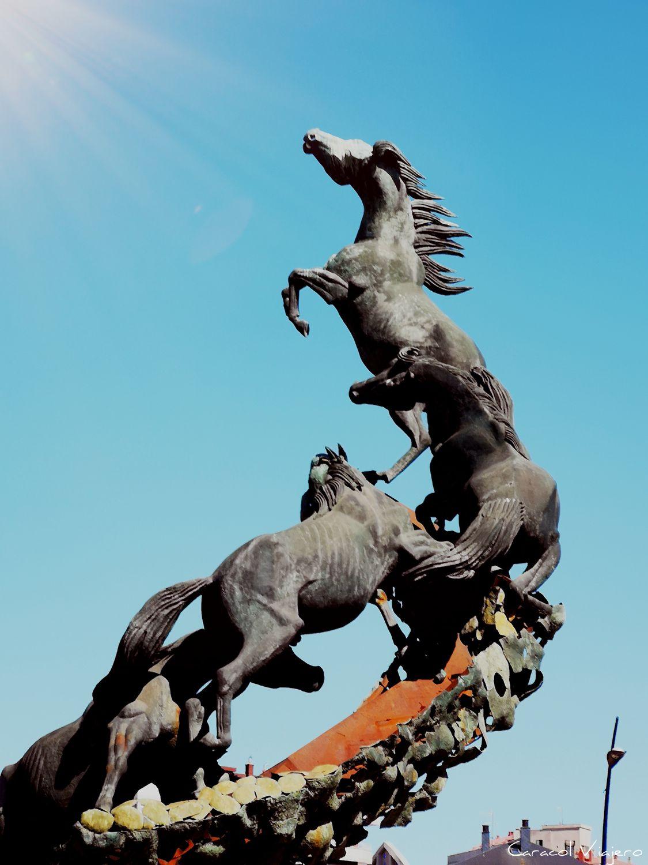 Escultura caballos Vigo