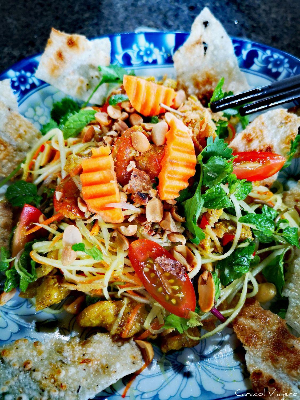 Ensalada vietnamita de papaya verde