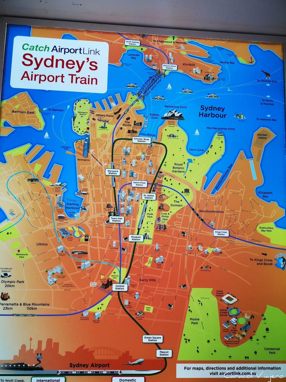 Mapa del Airport Train Sydney