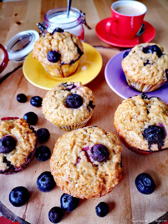 receta de magdalenas muffins de arándanos