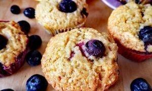 ¡Muffins de arándanos en 35 minutos!