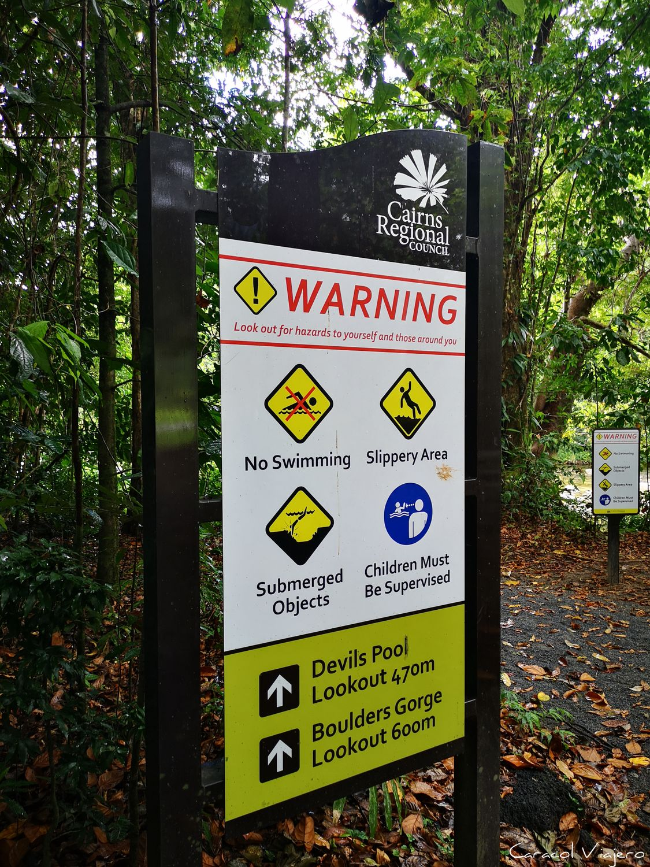 señales prohibido bañarse Australia