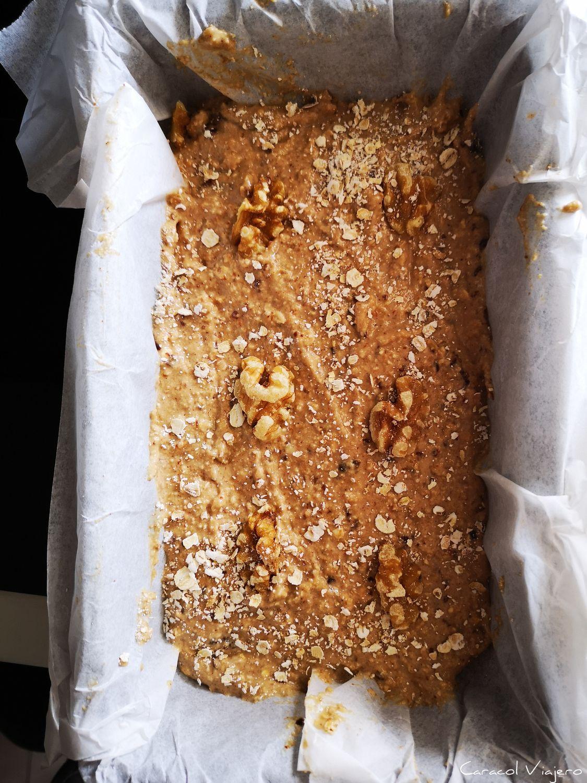 Pan de plátano con harina de avena