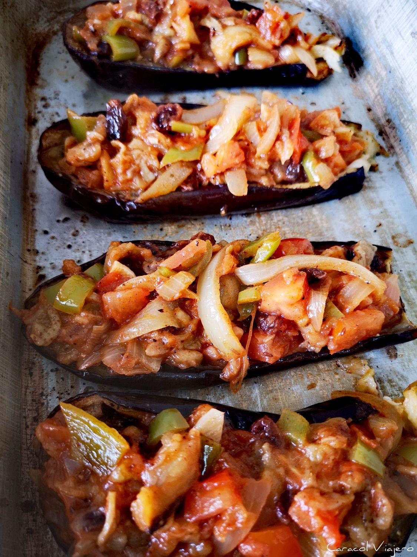 berenjenas turcas rellenas de verduras