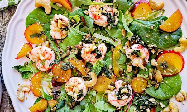 Ensalada con langostinos y espinacas | 20 minutos