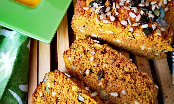 Pan de boniato y cúrcuma | Harina de avena